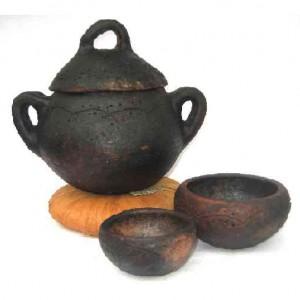 Panela de cerâmica tradicional