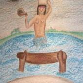 Desenho indígena – Mulher buscando água