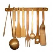Talheres de bambu com suporte ¹