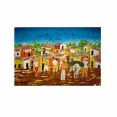Pintura em tecido – vila
