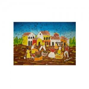 Pintura em tecido – vila ¹