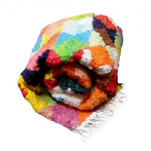 Tapete colorido ampulheta  – lã de carneiro