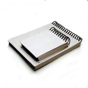 Bloco duplo capa em papel reciclado branco