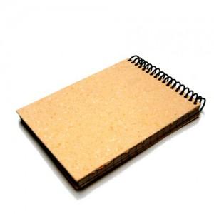 Bloco pautado capa papel reciclado
