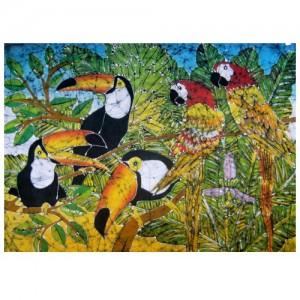 Panô Batik- Tucanos e Araras