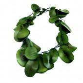 Colar de jarina fatiada –  verde