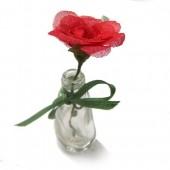 Mini flor – folhas esqueletizada