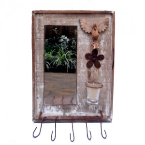 Espelho e pendurador –  pombinha do divino