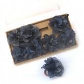 Porta guardanapos – folhas esqueletizadas- azul