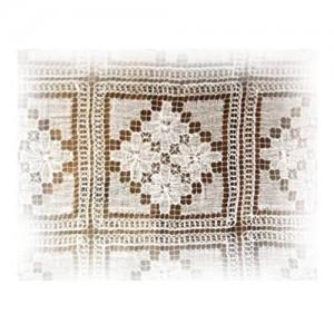 Renda de Filé  – toalha de mesa ,colcha ou cortina