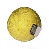 Novelo de algodão amarelo – fiação manual – MG