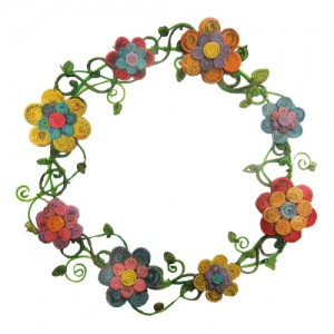 *Guirlanda flores de jornal – SP