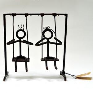 Crianças na balança- ferro- MG
