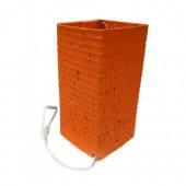 Luminária  quadrada P- cor de laranja – SP
