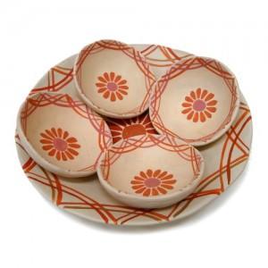 Jogo de travessas-cerâmica do Vale do Jequitinhonha- MG