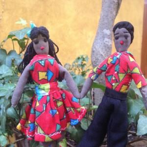 Casal de bonecos de pano – PB