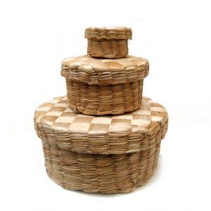 Caixa redonda de taboa – MG