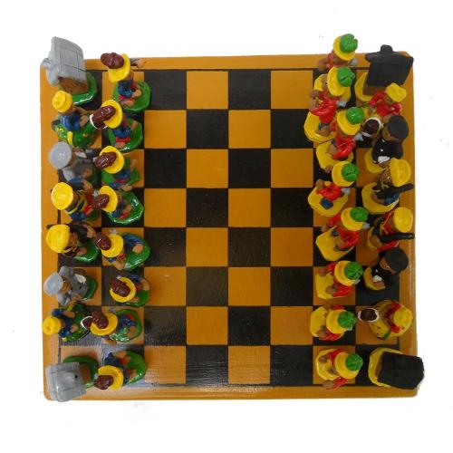 Jogo de xadrez – cerâmica – PE